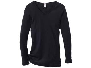 Damen-Unterhemd Langarm schwarz