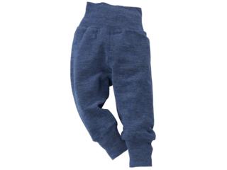 Baby Hose mit Nabelbund melange-blau