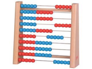 Rechenrahmen Abacus aus Holz, 100 Perlen