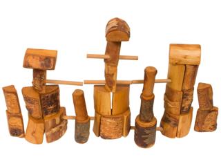 Holzbauklötze, natur
