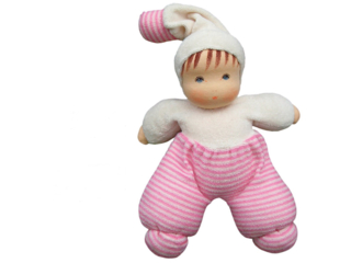 "Puppe ""Möpschen"" rosa"
