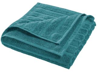 Handtuch Bio-Baumwolle Frottee Streifen petrol