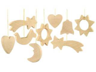 Christbaumschmuck aus Holz, Flachmodelle