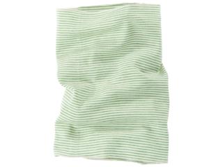 Kinder Schlauchschal Wolle Seide grün-geringelt