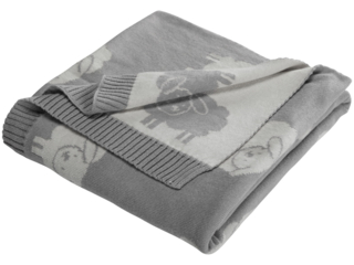 Babydecke Bio-Baumwolle, Schäfchen grey