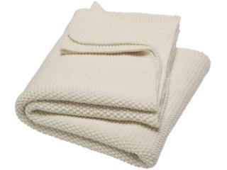 Babydecke Bio Baumwolle Strick-Qualität Ivory