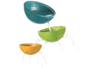 Kinder Wasserspielzeug Schüsselset aus Kautschukholz