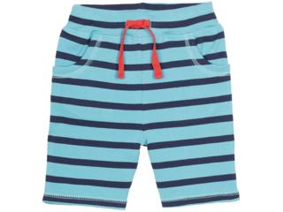 Baby und Kinder Bermuda blau-aqua-geringelt