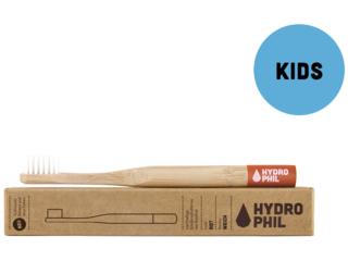 Kinder Bambus-Zahnbürste extra weich rot