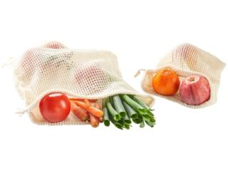 Einkaufsnetz aus Bio-Baumwolle 2er-Set natur