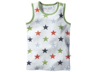 Kinder Unterhemd Bio-Baumwolle Stern weiß