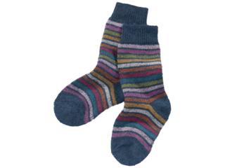Kinder Socken Schurwolle Rainbow blue
