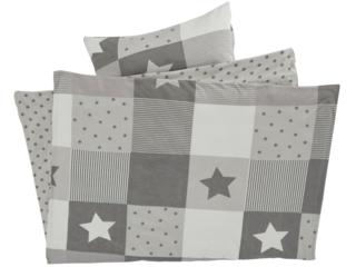 Kinderbettwäsche Bio-Baumwolle Jersey Patchwork Stern