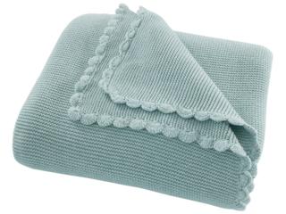 Kuscheldecke für Erwachsene Bio-Baumwolle, mint cream