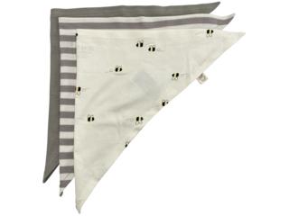 Baby und Kinder Dreieckstuch Bio-Baumwolle 3er Set grau