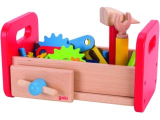 Kinder Werkbank Werkzeugkiste aus Holz 36-teilig