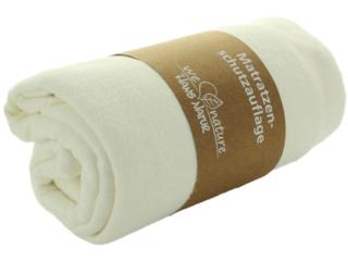 Matratzenauflage mit Spannecken Bio-Baumwolle natur