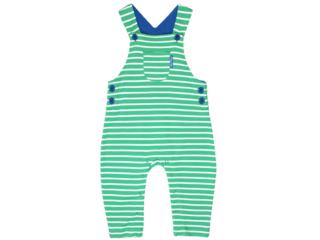 Baby und Kinder Latzhose grün-gestreift