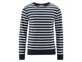 "Herren Sweatshirt ""Ingo"" ink blue-white"