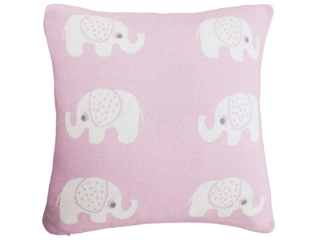 Kissenbezug 40x40 cm  Bio Baumwolle, Elefanten rose