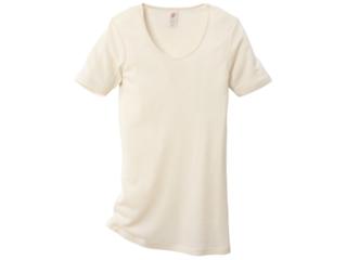 Damen-Unterhemd Kurzarm natur