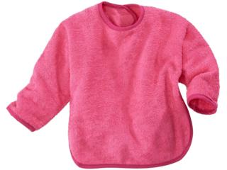 Lätzchen mit Ärmeln und Klettverschluss pink-brombeer