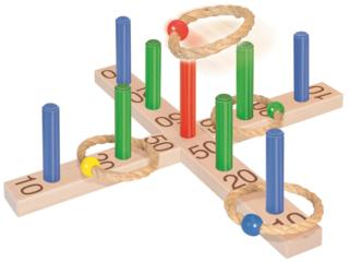 Geschicklichkeitsspiel Ringe werfen