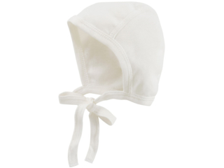 Babymütze Erstlingsmütze Bio-Baumwolle off white
