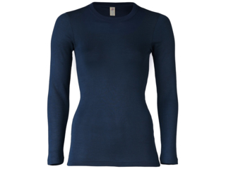 Damen Unterhemd Langarm marine