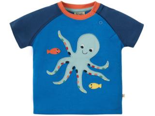 Baby und Kinder T-Shirt Oktopus blau