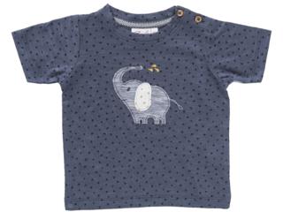 Baby und Kinder T-Shirt anthrazit Elefant