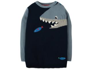 Kinder Pullover Haifisch blau