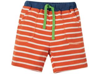 Baby und Kinder Bermuda orange-geringelt