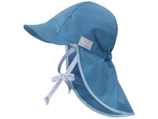 "Kinder Sonnenschutz Mütze ""Legionär"" UV-60 Taubenblau"