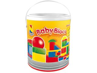 Holzbausteine Baby Blocks Architect bunt 30-teilig