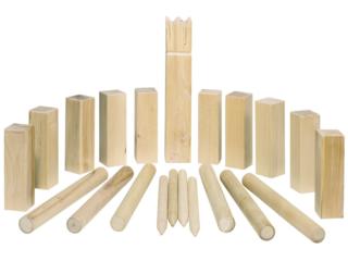 Wikingerspiel Kubb aus Buchenholz