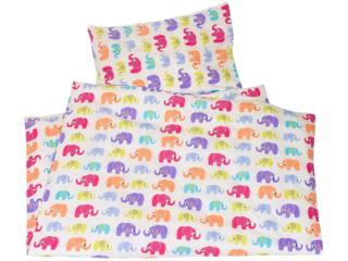 Kinderbettwäsche Bio-Baumwolle Jersey Elefanten