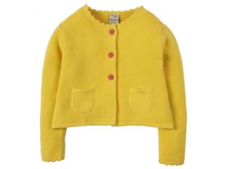 Kinder Strickjacke gelb