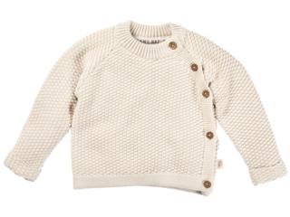 Baby Jacke Perl-Strick Bio-Baumwolle ecru