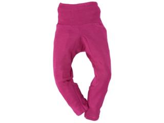 Baby Hose mit Kratzschutz Wolle Seide pink