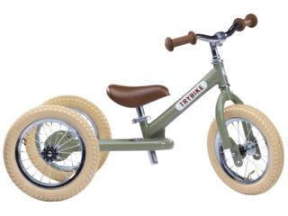 Trybike Laufrad mit Stahlrahmen, Vintage Green