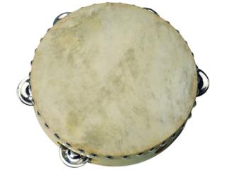 Tamburin Naturfell mit 5 Schellen