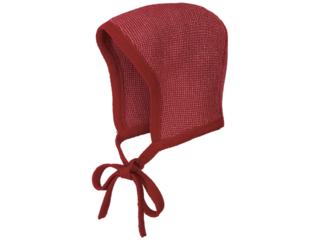Baby Strickmütze melange-bordeaux-rosé
