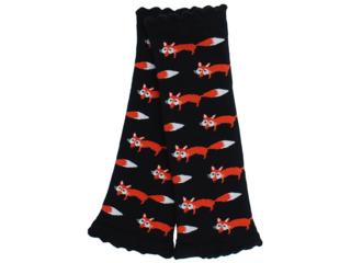Kinder Stulpen mit Frottee Innenseite Fuchs schwarz