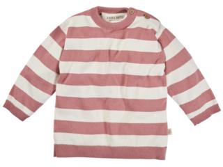 Kinder Pullover Strick-Qualität Bio-Baumwolle ecru-rose