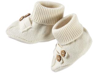 Baby Schuhe Strick-Qualität Bio-Baumwolle ecru