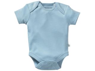 Baby Body Kurzarm Bio-Baumwolle hellblau