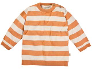 Kinder Pullover Strick-Qualität Bio-Baumwolle ecru-orange