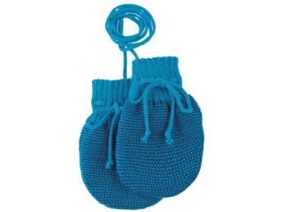 Baby Handschuhe melange blau