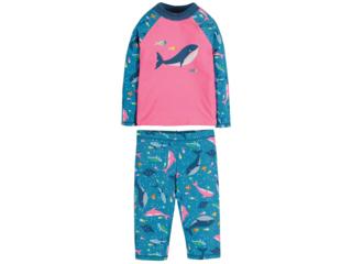 Kinder Badeanzug UV Schutzkleidung mit UV 50 plus Wale